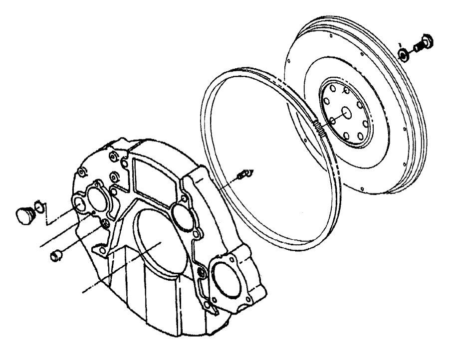 Dodge Ram 3500 Bolt. Flywheel housing, hex flange head