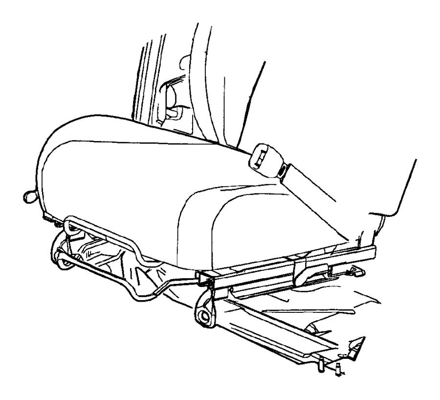 2000 Dodge Neon Seat belt. Buckle half. Trim: (*k7.)color