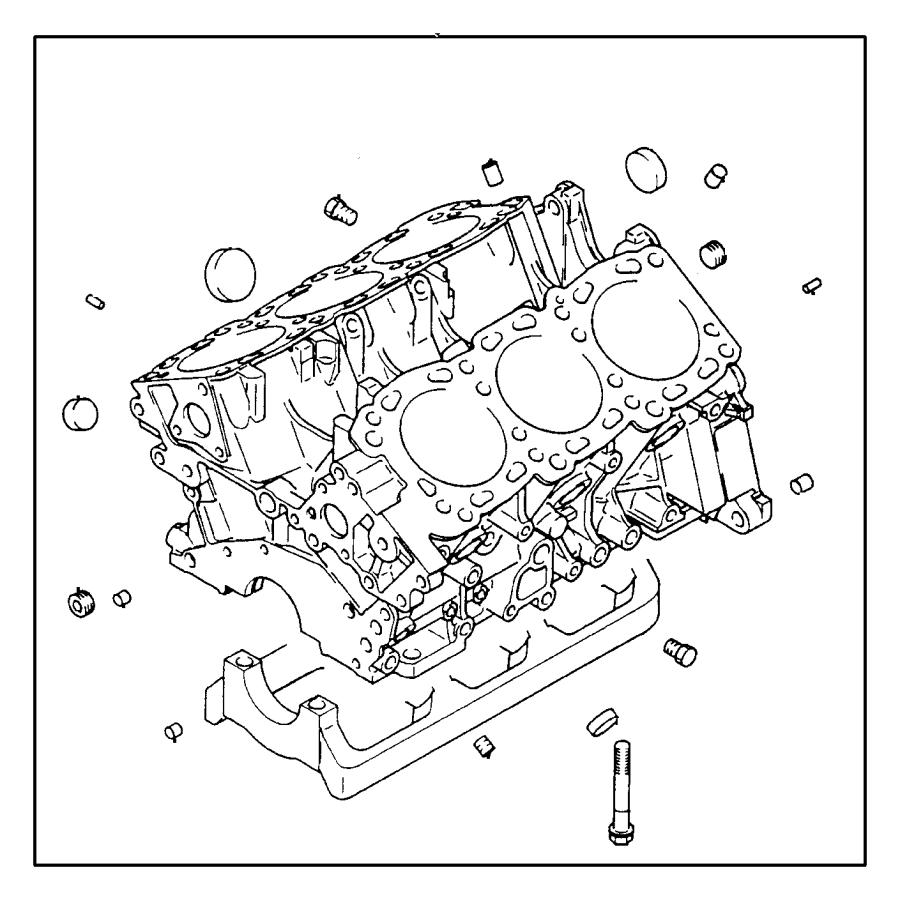 2006 Dodge Grand Caravan Heater. Engine block. Engnie