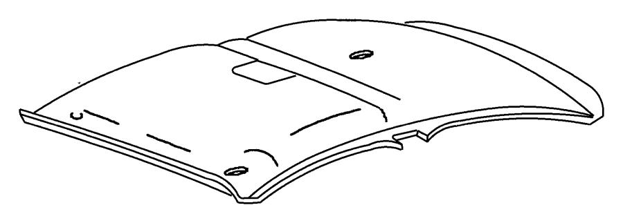 Dodge Neon Headliner. Left. Assist handle. Trim: [all trim
