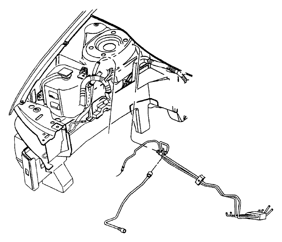 1996 Chrysler Sebring Tube. Fuel supply. Lines, mopar