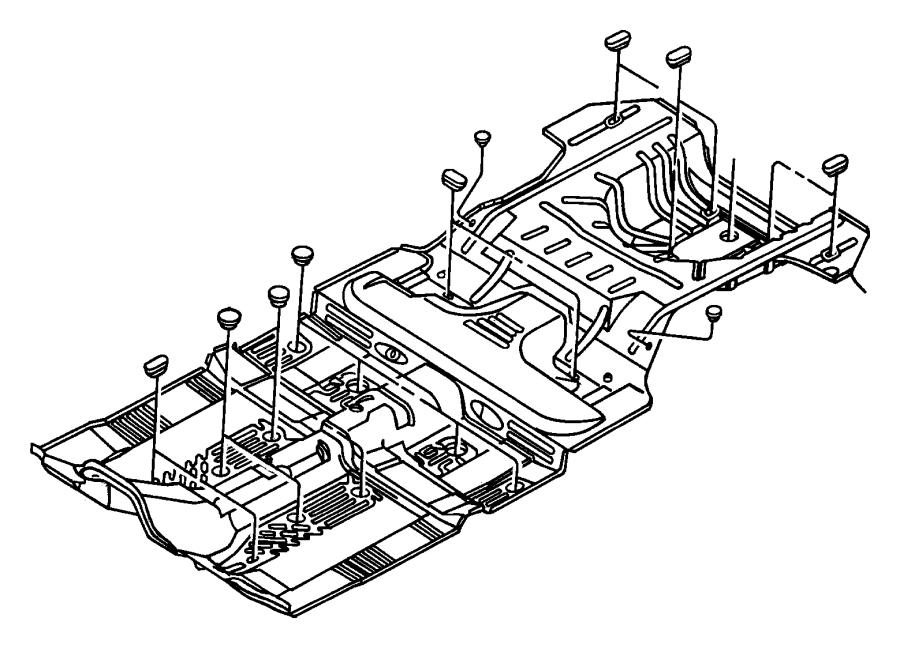 1999 Jeep Wrangler Plug. Floor pan. Plugs, front, rear