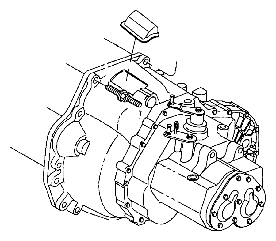 Dodge Viper Transaxle. With stamp # [04670290ai]. Overall