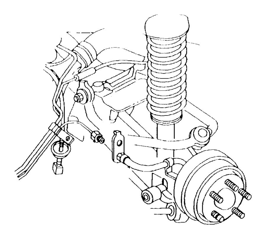 2000 Dodge Stratus Hose. Brake. Left. [disc] w/prop valve