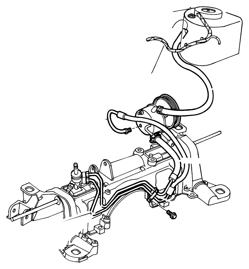Chrysler Grand Voyager Hose. Power steering. Engine