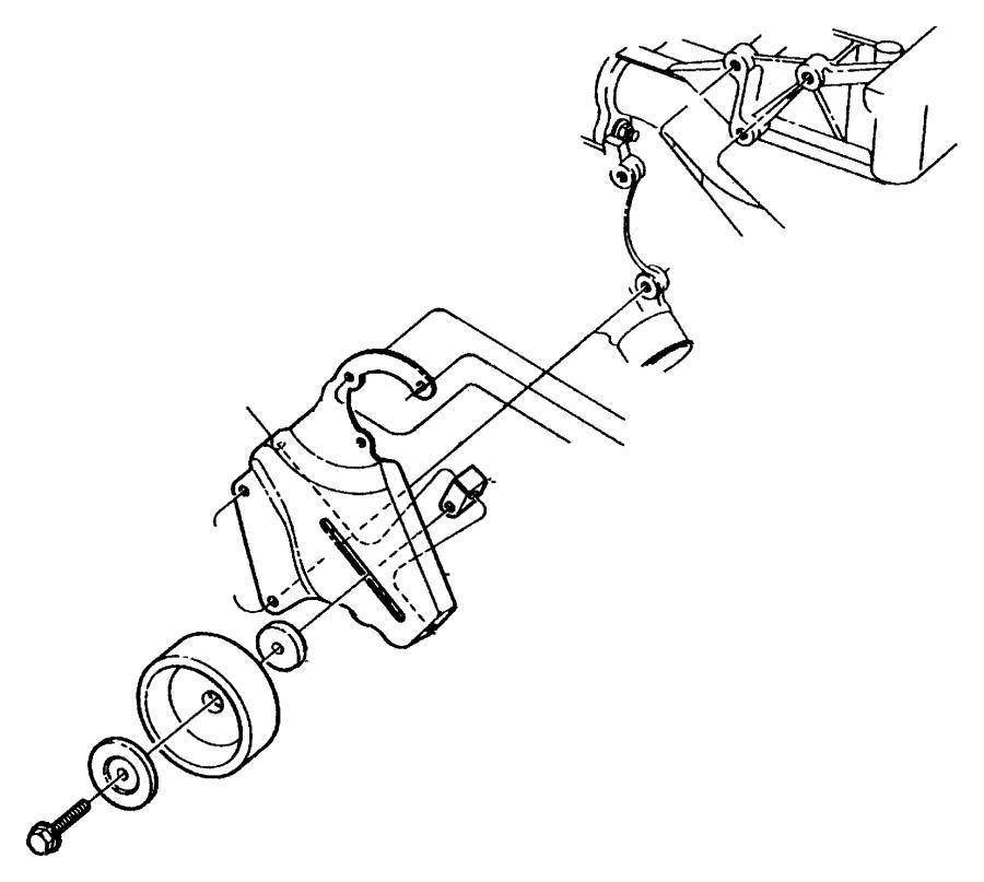 Dodge Dakota Bracket. Tensioner. Adjusting, belt