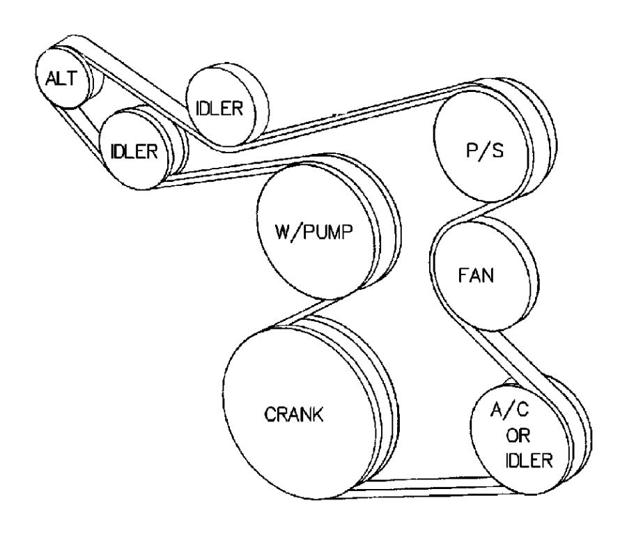 2002 Chrysler PT Cruiser Belt. Accessory drive. 4.0l