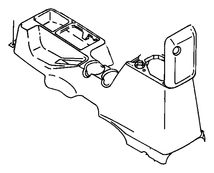 1999 Jeep Wrangler Console. Floor. Agate, full (agate