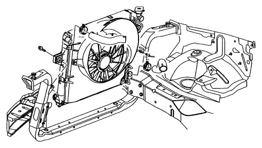 2001 Jeep Cherokee Shroud. Fan. Oil, transmission, cooler