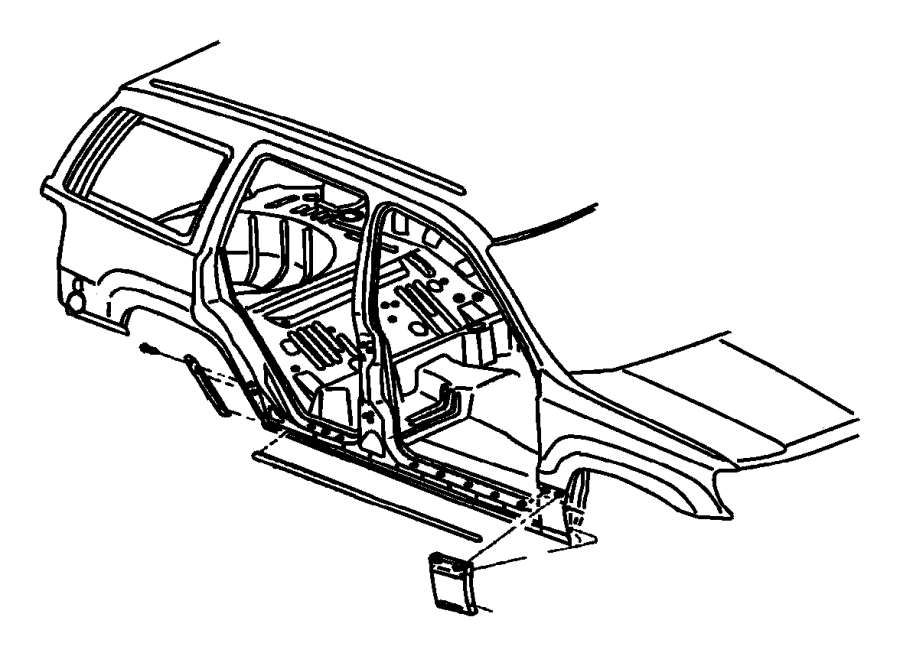 2004 Dodge Intrepid Cladding. Quarter panel. Lower, lower