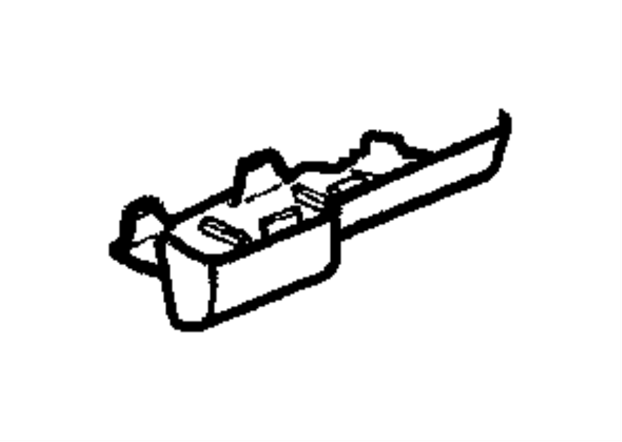 2001 Dodge Durango Cover. Fuse access. Panel, instrument