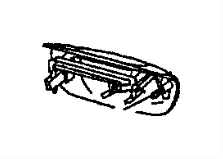 2000 Jeep Grand Cherokee Handle. Liftgate. Standard. Black