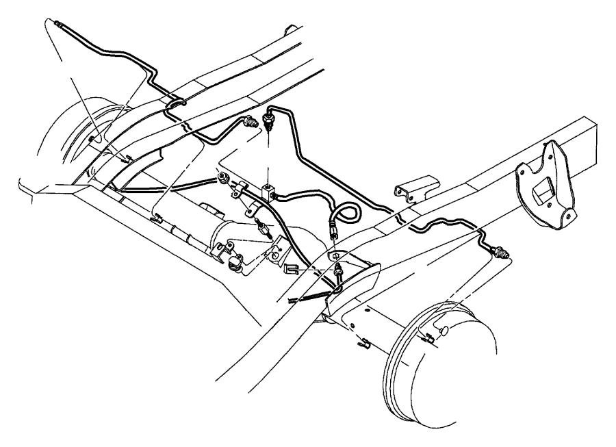 2001 Dodge Durango Hose. Brake. Hoses, maintenance, lines