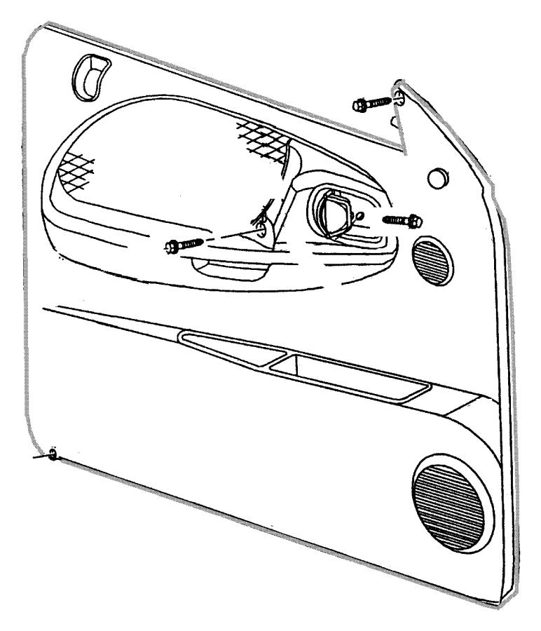 2000 Dodge Dakota Panel. Front door trim. Right. [az