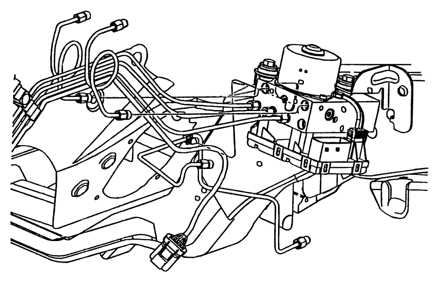 1997 Chrysler Voyager Tube. Convoluted 1ft. Mopar