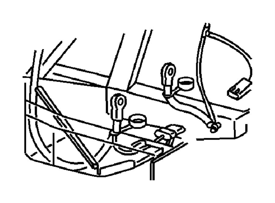 1995 Dodge Viper Wiring. Battery negative. Wiring, battery
