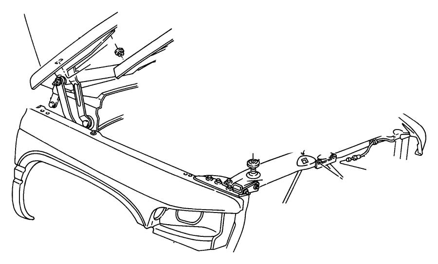 Dodge Dakota Clip Latch Link Inside Remote Left