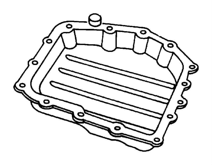 2000 Chrysler Grand Voyager Pan. Transmission oil. Awd