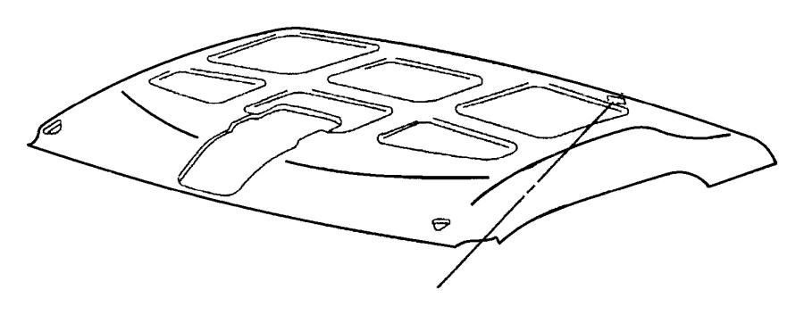 1998 Dodge Ram 1500 Headliner. Trim: (*o0.)color: (-o0
