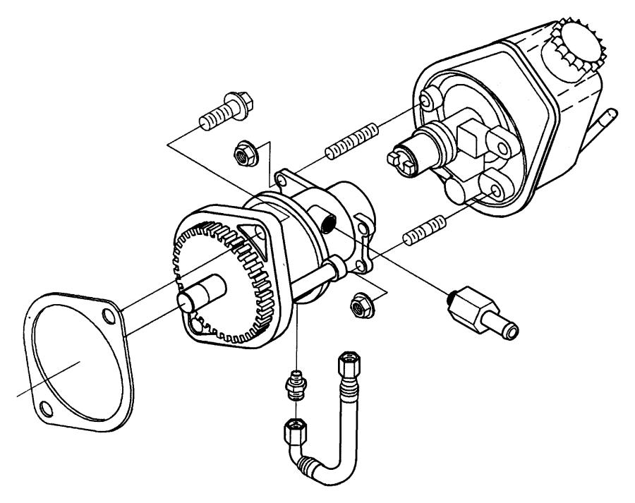 2001 Dodge Ram 2500 Cap. Power steering pump. Etb, encore