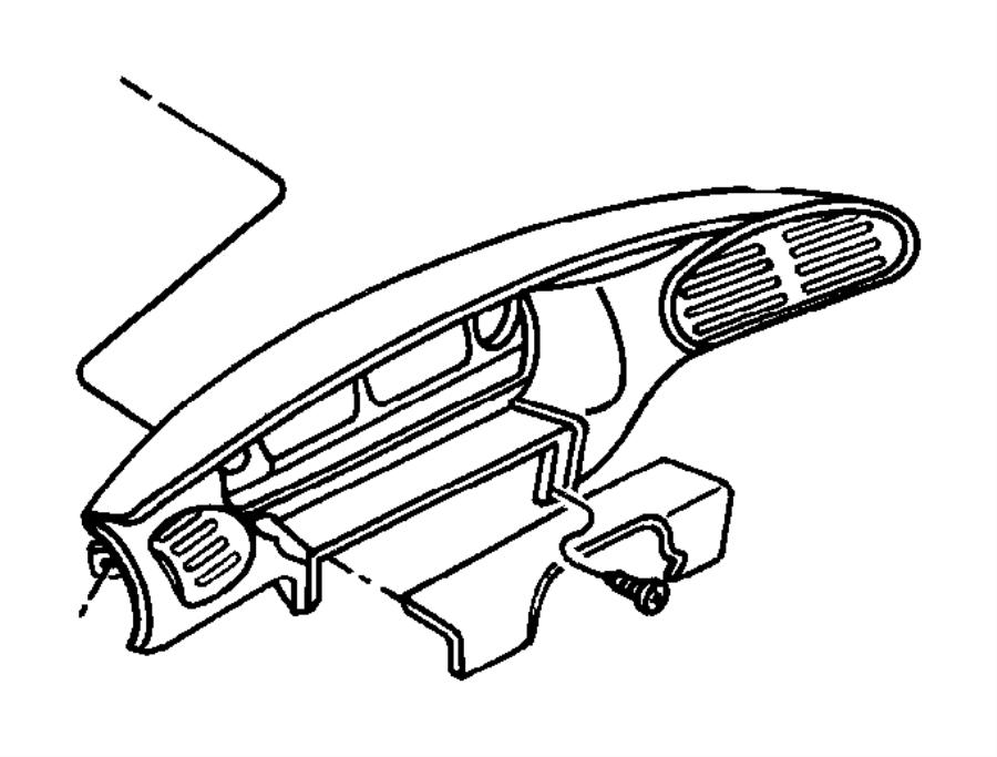 Chrysler Grand Voyager Bezel. Instrument panel. Upper