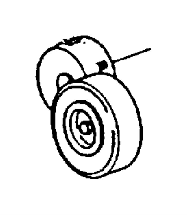 1999 Dodge Caravan Tensioner. Belt. Related, pulleys