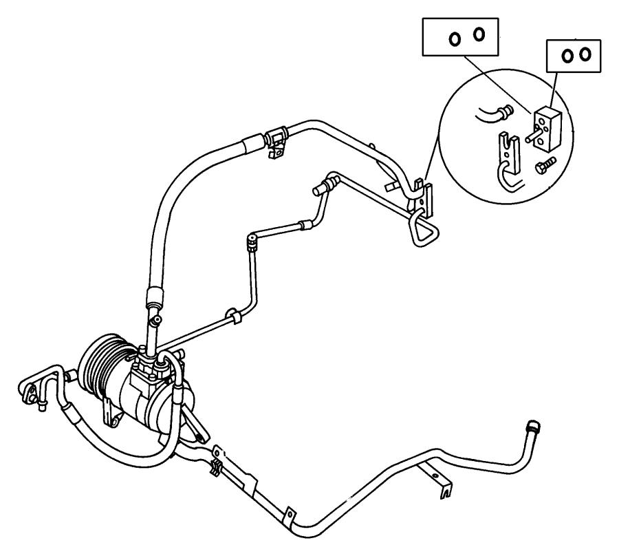 Dodge Grand Caravan Cap. A/c check valve. Discharge