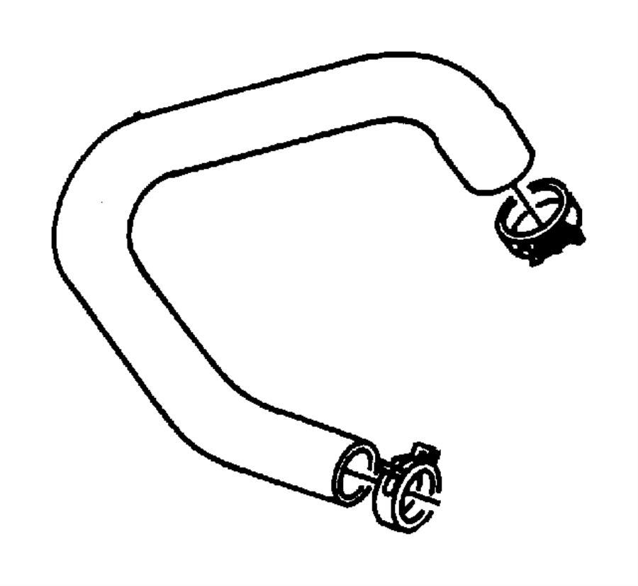 1999 Chrysler Cirrus Clamp. Hose clamp. Fuel filler hose