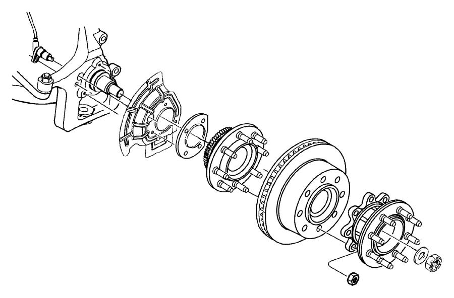1998 Dodge Ram 1500 Shield. Brake. Right or left. [4-wheel