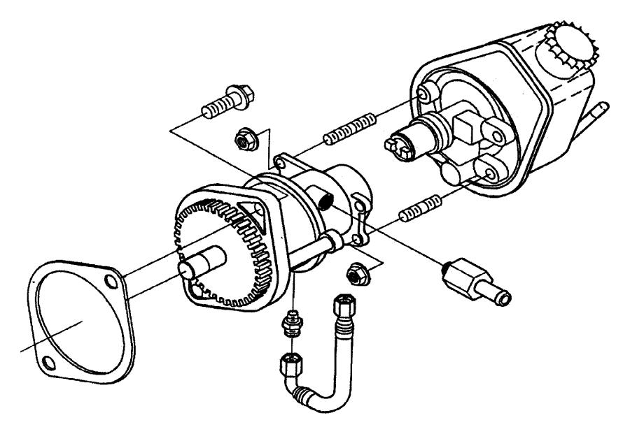 1998 Dodge Ram 3500 Hose. Brake vacuum. Etb. Emissions