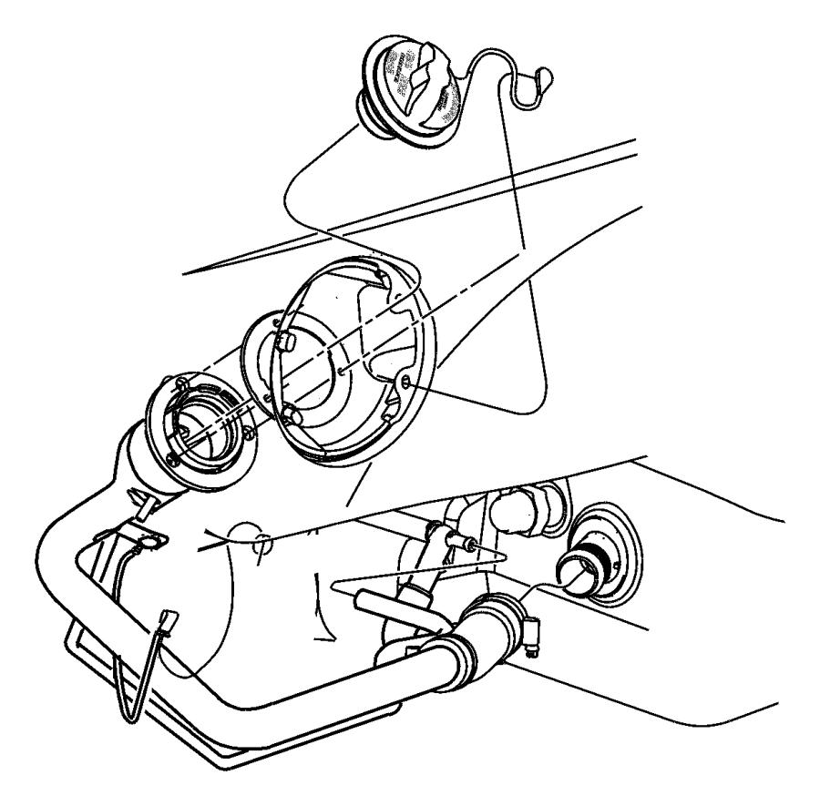 2000 Dodge Stratus Cap. Fuel filler. Export, mexico
