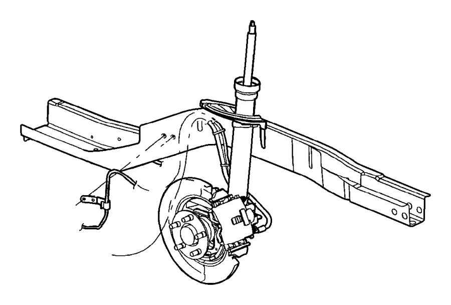 2004 Dodge Neon Sensor. Anti-lock brakes. Left, left rear