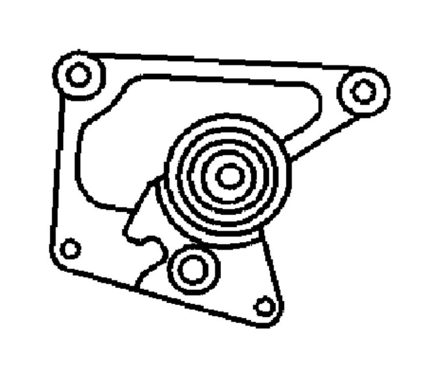 2001 Dodge Neon Bracket. Tensioner. Cover, belt, timing