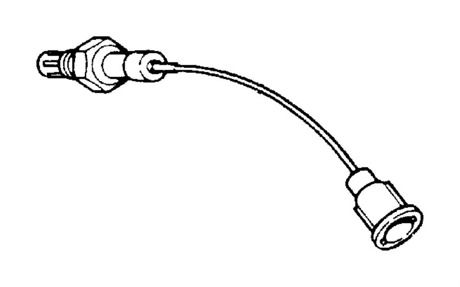 1998 Jeep Grand Cherokee Sensor. Oxygen. After catalyst