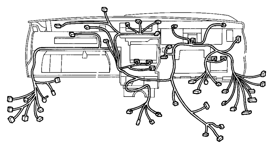 1998 Jeep Grand Cherokee Wiring. Instrument panel