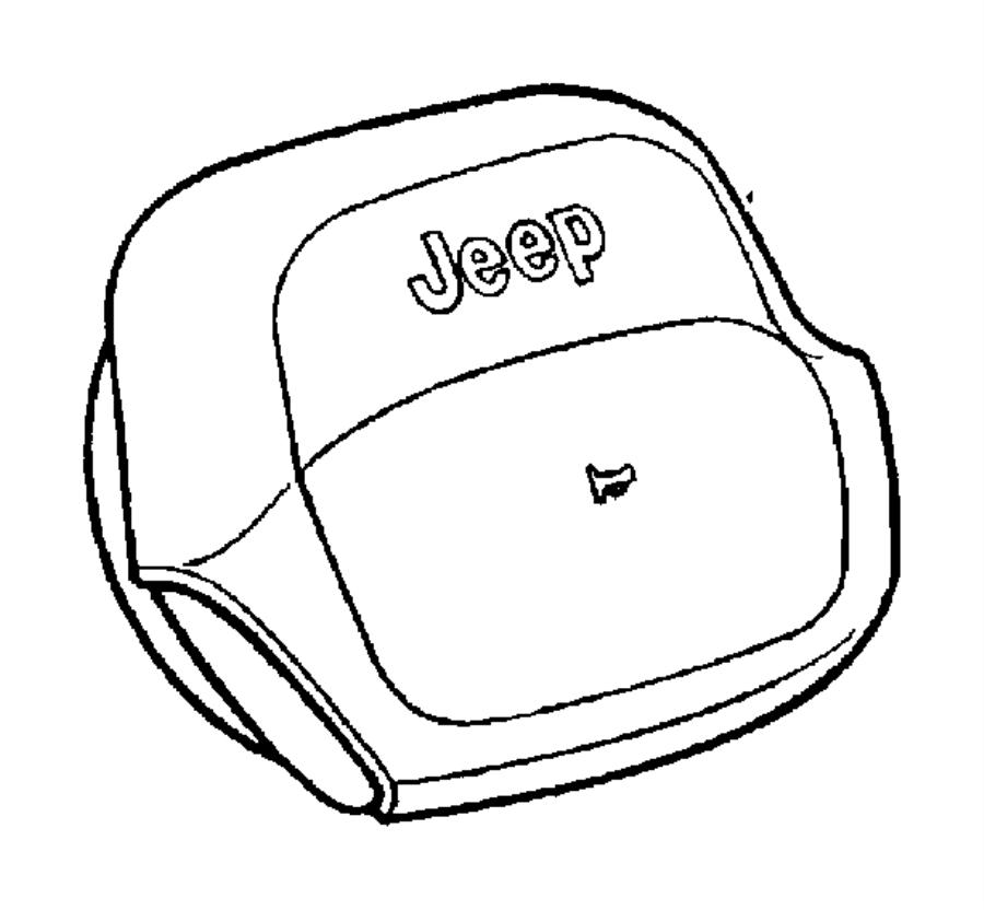 2001 Jeep Wrangler Cover. Air bag module. Trim: [all trim
