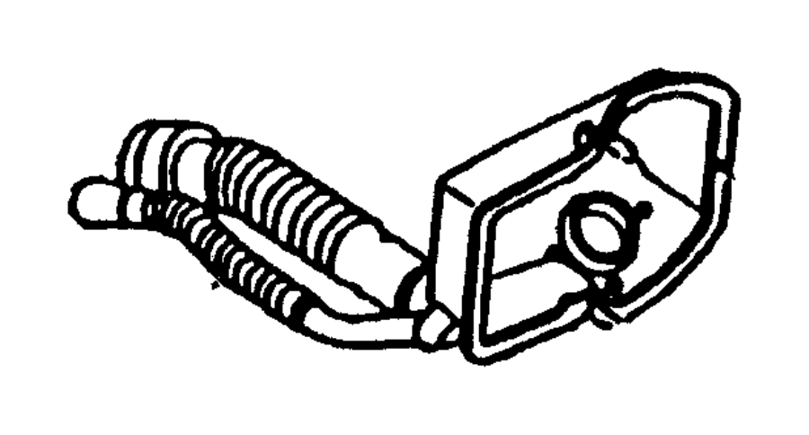 2002 Dodge Dakota Hose. Fuel filler. Tube, gallon, tank
