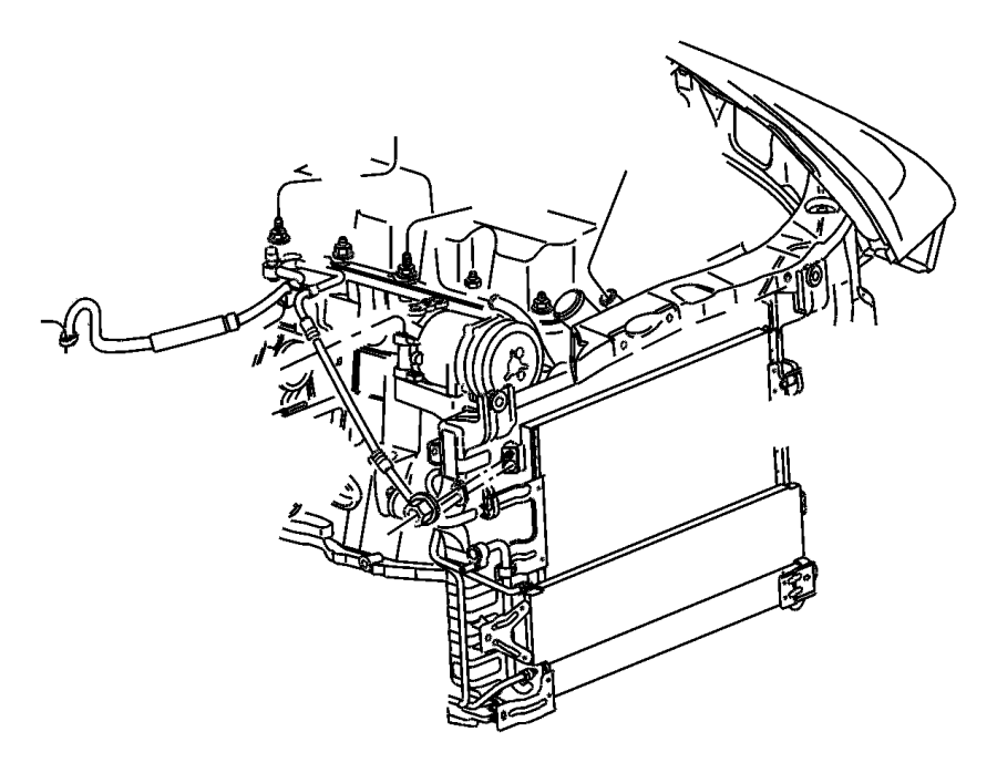 2001 Chrysler PT Cruiser Valve, valve core. A/c line