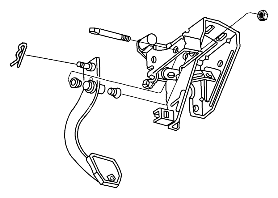 Chrysler 300 Shaft. Brake pedal pivot, clutch pedal