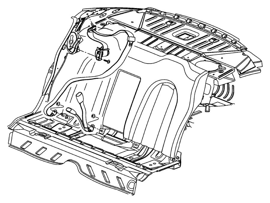 2002 Dodge Intrepid Seat belt. Center. Rear. Trim: (*o0