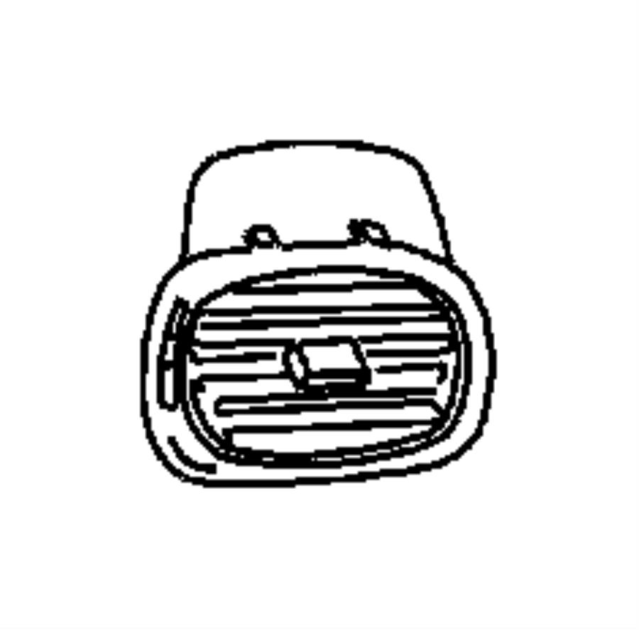 Dodge Grand Caravan Duct. Instrument panel door extension