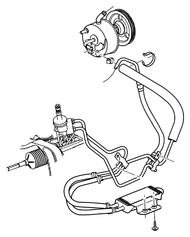 Chrysler Voyager Hose. Power steering pressure. Engine