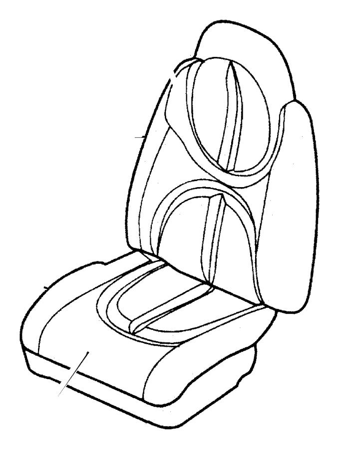 2001 Dodge Durango Frame. Front seat cushion. Passenger