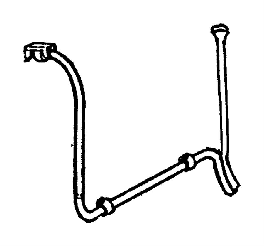 2005 Dodge Ram 1500 Clip. Fuel line. Lines, front