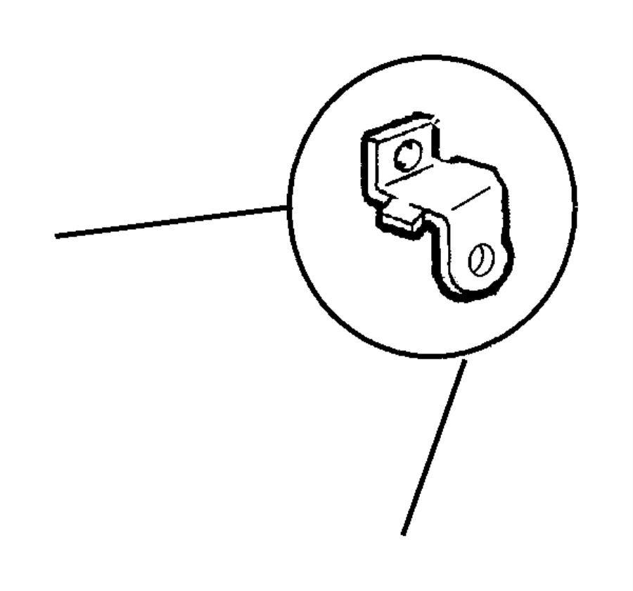 Dodge Avenger Bracket. Battery wiring, tube. Vent tube