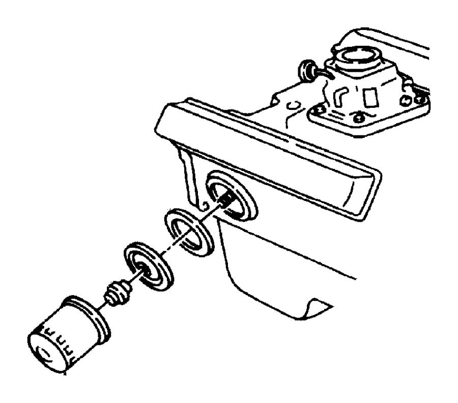 1998 Chrysler Sebring Plate. Oil filter adapter. Engine