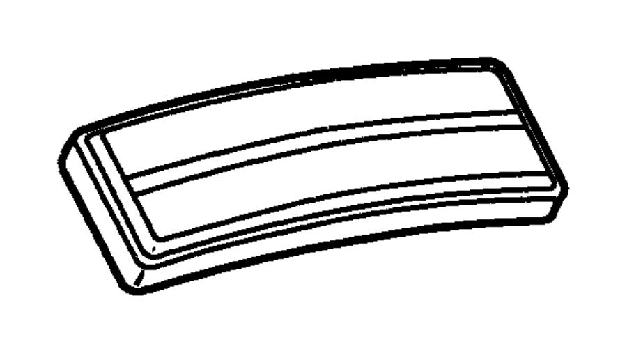 Chrysler Cirrus Pad. Pedal. [all manual transmissions