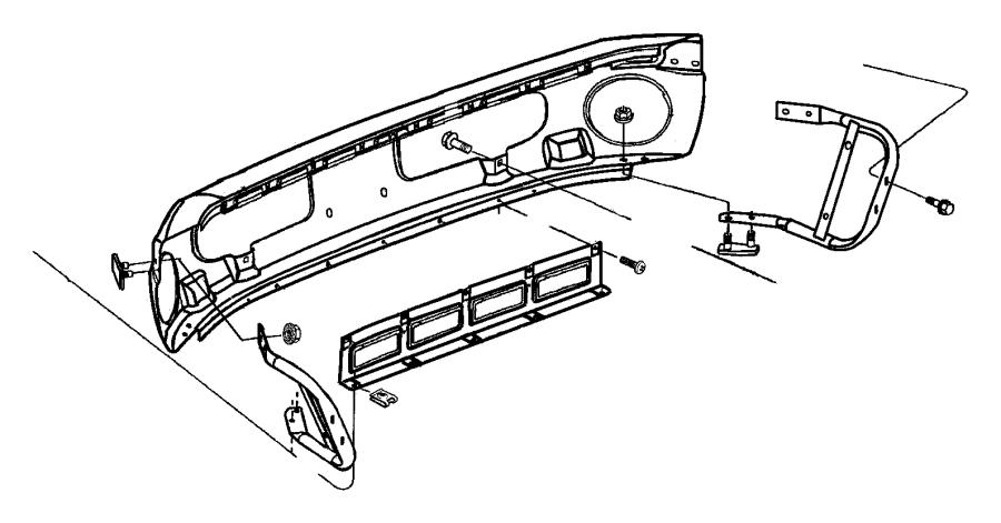 Dodge Ram Panel Front Facsia Close Out Bumper