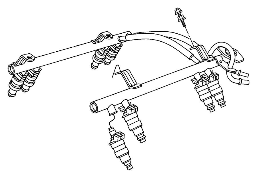1999 Dodge Ram 1500 Injector. Fuel. Rail, eml, emm