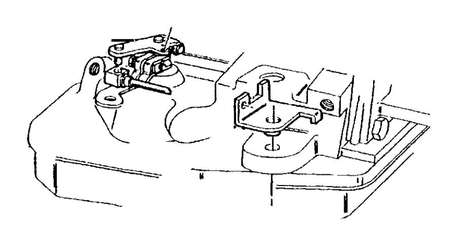 1999 Dodge Ram 3500 Lever. Throttle valve. T.v. Control